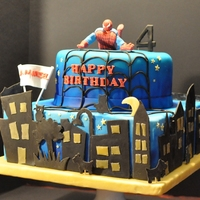 Spiderman Look-Alike Cake