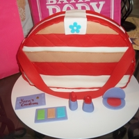 Purse And Make Up Cake