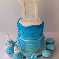 Sailboat I had free reign with this cake so it came out exactly how it was in my head for once!! Bottom tier is choc mud filled with vanilla imbc,...