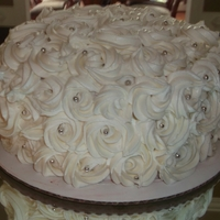 Rosette Cake Rosette covered Red Velvet & Cream Cheese
