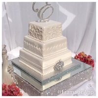 Bling Square Wedding Cake
