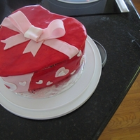 Heart Shape Box Cake