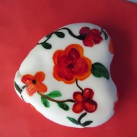 Hand Painted Heart Cakelet