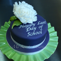 Kindergarten Teacher Cake Cake for my son's Kindergarten teacher. This was made to his specifications:) He wanted it to be purple, with a flower, he picked the...