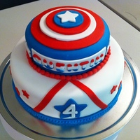 Captain America Birthday Cake Made this cake for my friend's grandson.