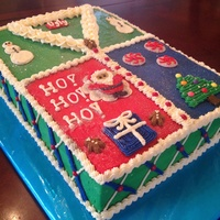 Ugly Christmas Sweater Ugly Christmas sweater cake made with swiss meringue buttercream