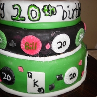 Texas Hold'em Cake   Made this one for my brother's 20th birthday. His favorite card game is Texas Hold'em.