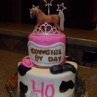 Rhinestone Cowgirl Cowgirl by Day, Rockstar by night! Marshmallow fondant with chocolate cake and chocolate bc