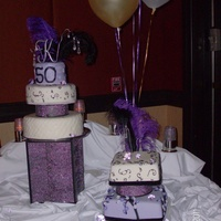 50Th Birthday Cake This was a five tier done in 2 sections. All marshmallow fondant.