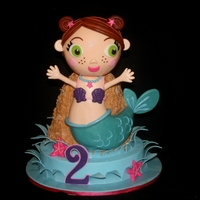 Lil' Mermaid Her head is rkt and the rest is all cake.