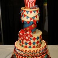 Vintage Circus-1St Place Here is another one of my entries into the 2012 That Takes The Cake Show in Austin. It won 1st place in the Adult Advanced Novelty Tiered...