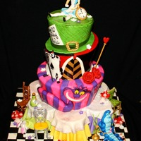 Alice In Wonderland All Fondant And Hand Painted Alice in Wonderland, all fondant and hand painted