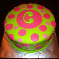 1335542877.jpg Fondant , Pink and Green Initial