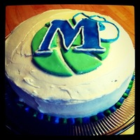 Dallas Mavericks Nba Cake Decorated with homemade buttercream and marshmallow fondant