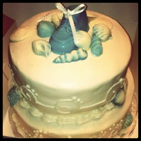 Coastal Themed Baby Shower Cake