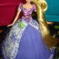 Rapunzel / Tangled Cake decorated with buttercream