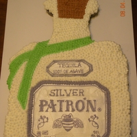 Patron Silver Pull Apart Cake