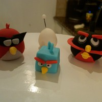 Angry Birds Space hand made w/fondant
