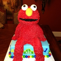 Elmo Cake Elmo's head, arms, and legs are RKT.