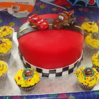 Cars Cake And Cupcakes