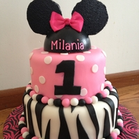 Minnie Mouse Inspired Topper With Zebra Print Minnie mouse inspired topper with zebra print.
