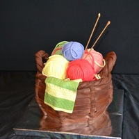 Knitting Cake, Basket Cake. Knitting cake.