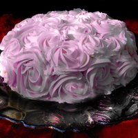 Roses Cake A romantic cake- Italian Buttercream roses, airbrushed. Two layers of Rose Levy Beranbaum's White Velvet cake, two layers of Italian...