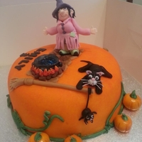 Halloween Cake   Made for little girl's birthday in September but she wanted a Halloween party lol