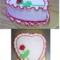 Long Stem Rose And Ruffles All decorating done in Buttercream.