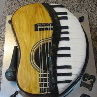 Music Lovers Cake This is not an original idea but I did my own take on it. The microphone is all chocolate. The rest is chocolate mud cake decorated with...