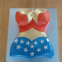 Wonder Woman This was my daughters 12th birthday cake. We had been to movie world and she had bought herself a wonder woman cape hence the cake....we...