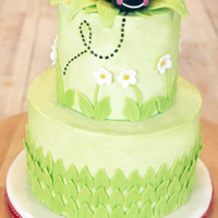 "Ladybug Birthday Cake Ladybug birthday cake made for my friend's daughter's first birthday. The bottom is a 6"" round, and the top is a 4""..."