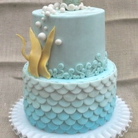 Blue Ombre Ocean Birthday Cake My daughter wanted a blue ocean cake for her third birthday. I love ombre cakes, and thought it would be a perfect way to represent the...