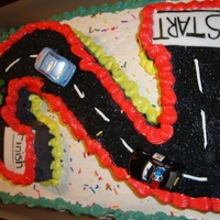 Number Two Car Cake