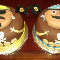Pirates Bday Cakes B-day cakes made for 3-yr old twin brothers.