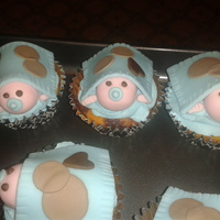 Fondant Babies On Marble Cupcakeswith Buttercream fondant babies on marble cupcakes...with buttercream :)