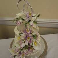 Gumpaste Flowers Shower cake, finally got to use gumpaste flowers!!! Very happy.