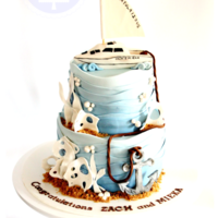 Anchors Away I made this cake for a couple that were celebrating their engagement. They love sailing and also scuba diving but wanted an elegant cake. I...