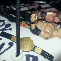 My First Wrestling Cake For My Future Grandson   My first wrestling cake for my future grandson.