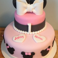 Baby Minnie Mouse Cake Baby Minnie Mouse cake for twins first birthday