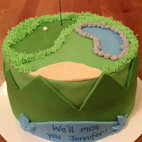 Goodbye Golf Cake