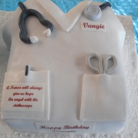 Nurse Cake I made this for my friend's birthday. Many of her nurse friends like this.