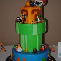 Super Mario Groom's Cake