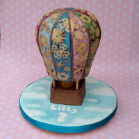 Hot Air Balloon Cake In A Sort Of Shabby Chic Style Hot air balloon cake in a sort of shabby chic style.