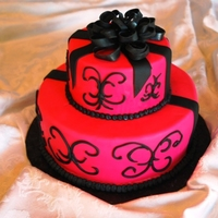Hot Pink Celebration Cake   This cake was for a 50th birthday, but could be for a wedding or...