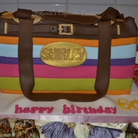 Coach Inspired Purse Cake today's cake i made for shirley's 60th