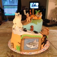 Lily's Zoo Cake