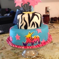 Jem And The Holograms Cake Made this jem and the holograms cake for my daughters 7th birthday
