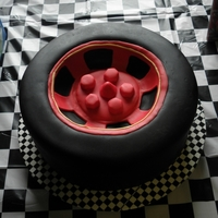 Tire Cake This is a tire cake I made for my son's 4th birthday