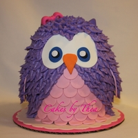 "Owl Cake This little cutie is a 6"" carved owl smash cake made with 7 layers of carrot cake and cream cheese buttercream."